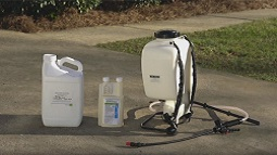 Demand CS in a backpack sprayer